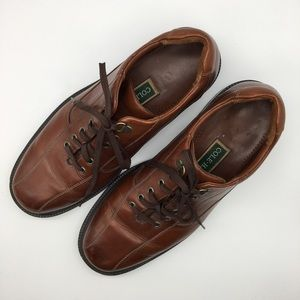 COLE HAAN Brown Mens Leather Lace Up Shoes Size 12